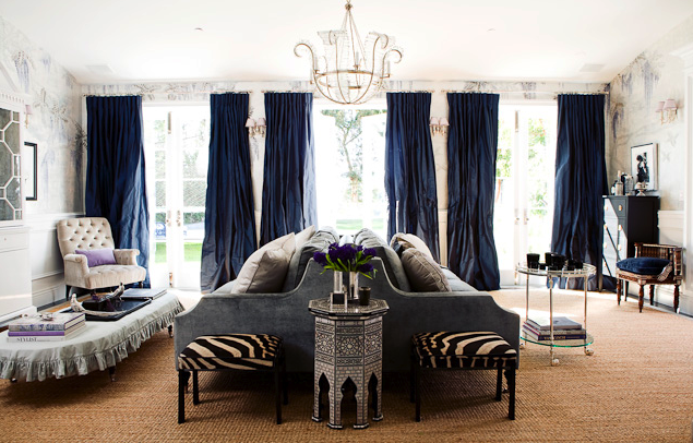Windsorsmith Adorable Of Blue and Gray Living Room Curtains Photos