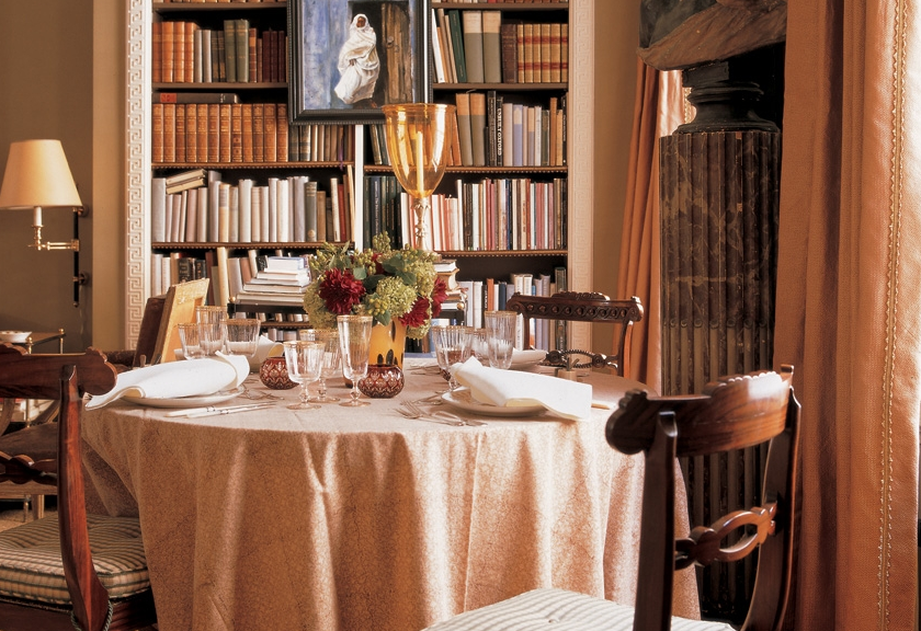 A teacher affects eternity a thoughtful eye for Dining room library
