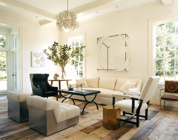 Rustic Living Room By Markham Roberts Inc By: Haynes-roberts Sagaponack Home ~ A Closer Look