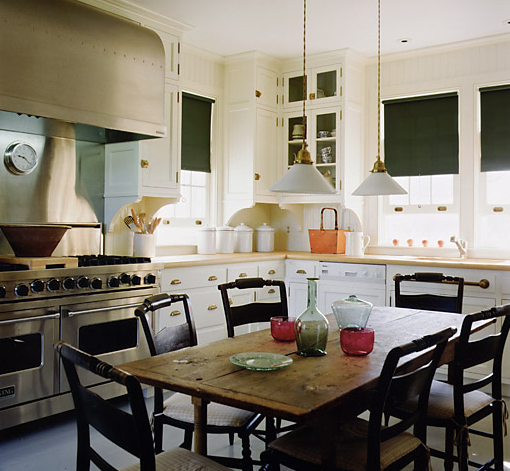 Gil schafer country home a thoughtful eye for Kitchens with islands in the middle