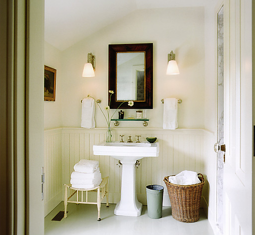 Beadboard Ceiling Bathroom: Gil Schafer ~ Country Home