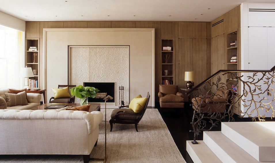 david kleinberg designs a warm and modern manhattan apartment manhattan designers Traditional ...