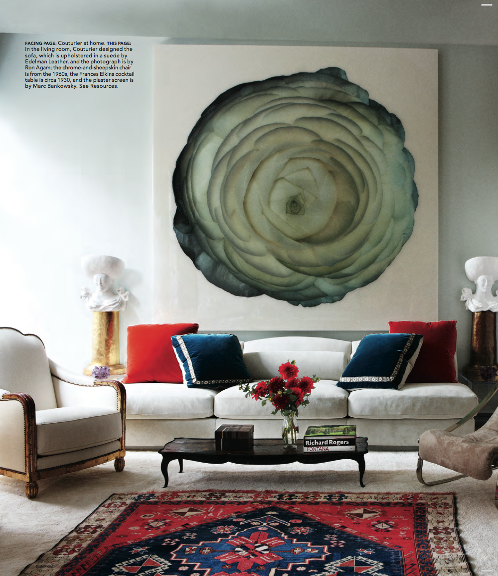 Elle Decor Interior Designers robert couturier and ron agam inspired | a thoughtful eye