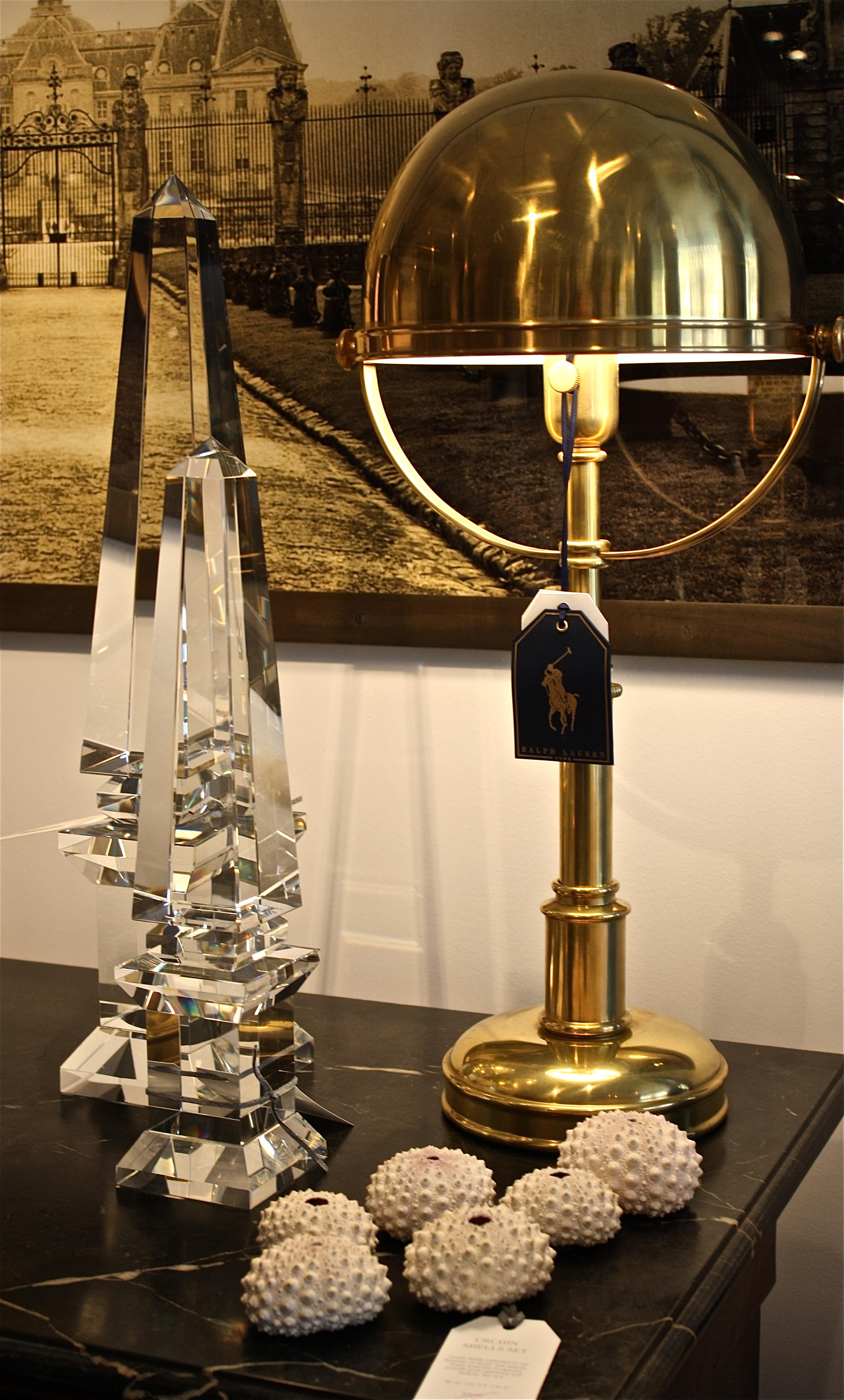 Carthage Table Lamp In A Natural Brass Finish By Ralph Lauren Home