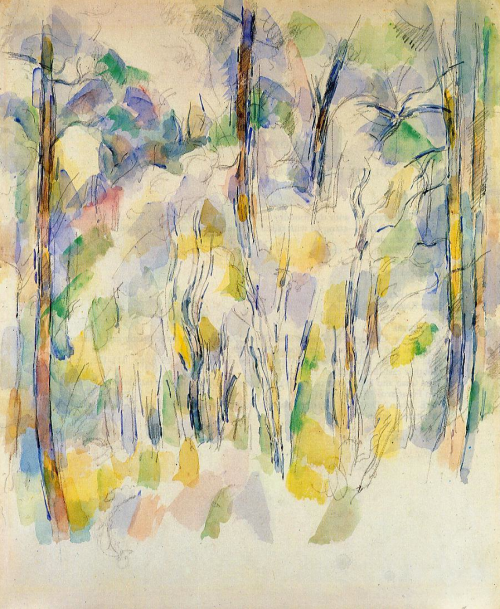 in the woods cezanne 1