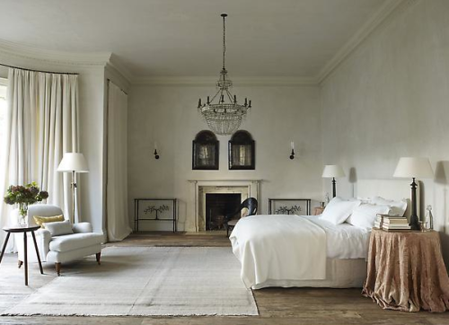 Serene bedroom by Rose Uniacke. Rose Uniacke's Classic Designed Minimal Home in London.