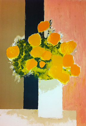 bernard cathelin ~ bouquet de roses d'Inde