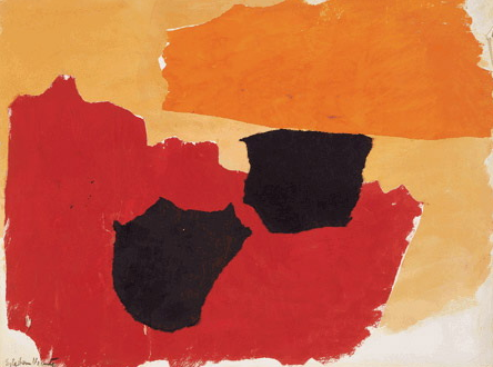 esteban vicente, 1962 ~ orange, red, black