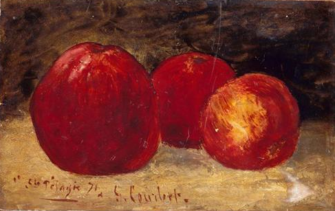 gustave courbet, 1871 ~ three red apples