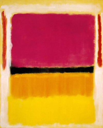 mark rothko, 1949 ~ violet, black, orange, yellow on white and red