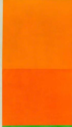 peter joseph, 1988 ~ bright orange with green
