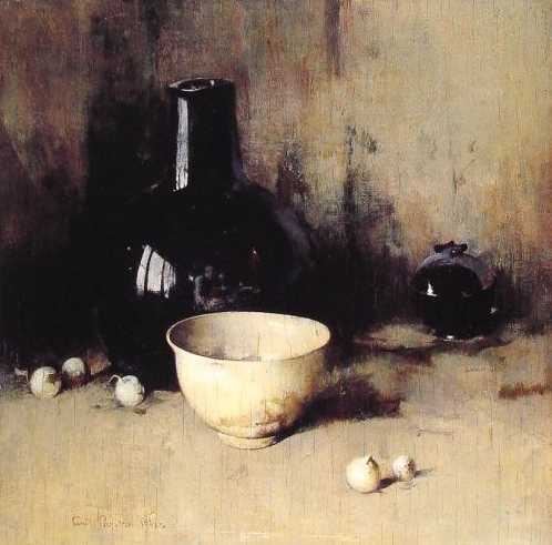 emil carlsen ~ still life with self portrait