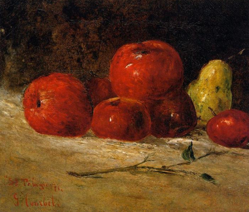 gustave courbet ~ still life with apples and pears, 1871