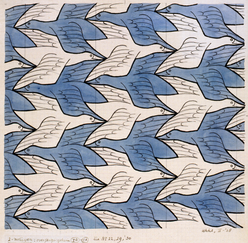 M.C. Escher ~ Two Birds, 1938
