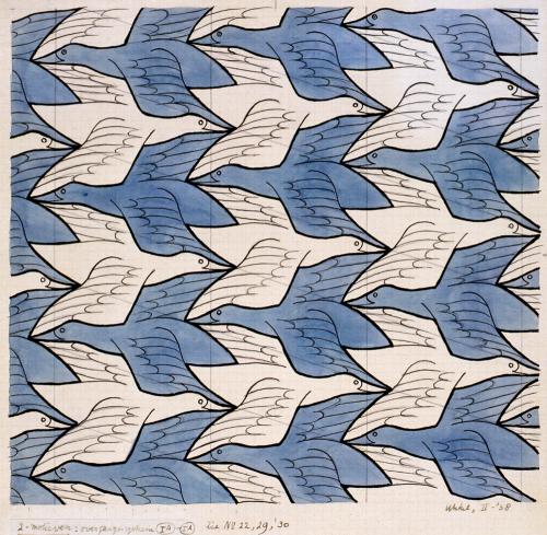 M.C. Escher ~ Two Birds, 1938