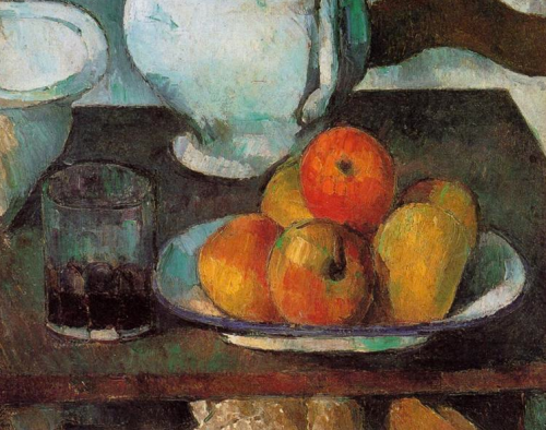 paul cezanne ~ still life with apples, 1879