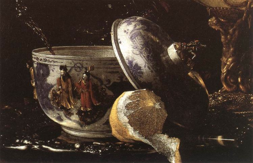 willem kalf ~ still life with nautilus cup (detail), 1662