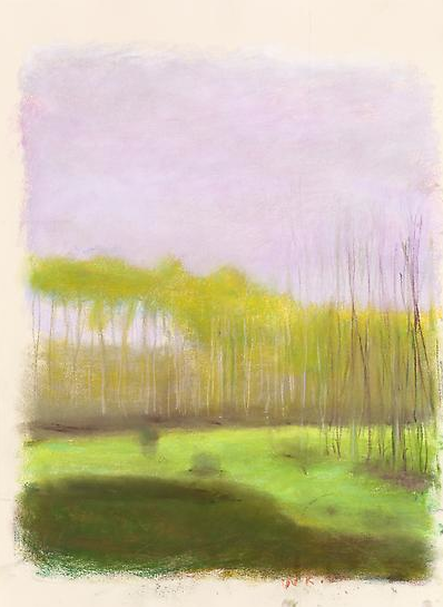 wolf kahn pastel, from emily foard's photograph ll, 2013